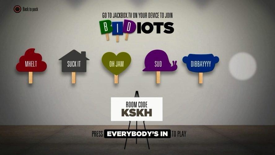 bidiots screenshot jackbox games