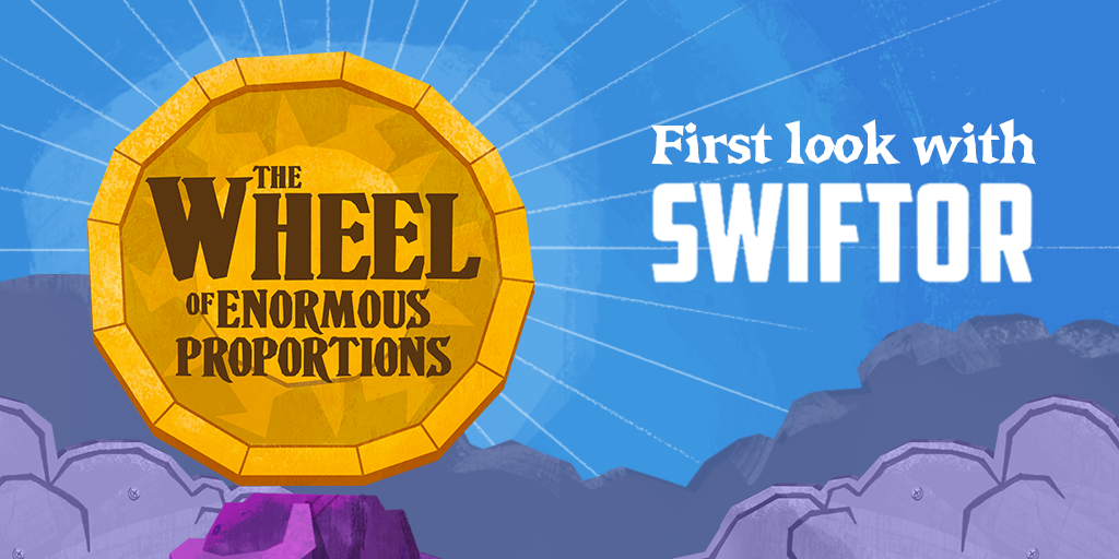 The Wheel of Enormous Proportions logo with Swiftor